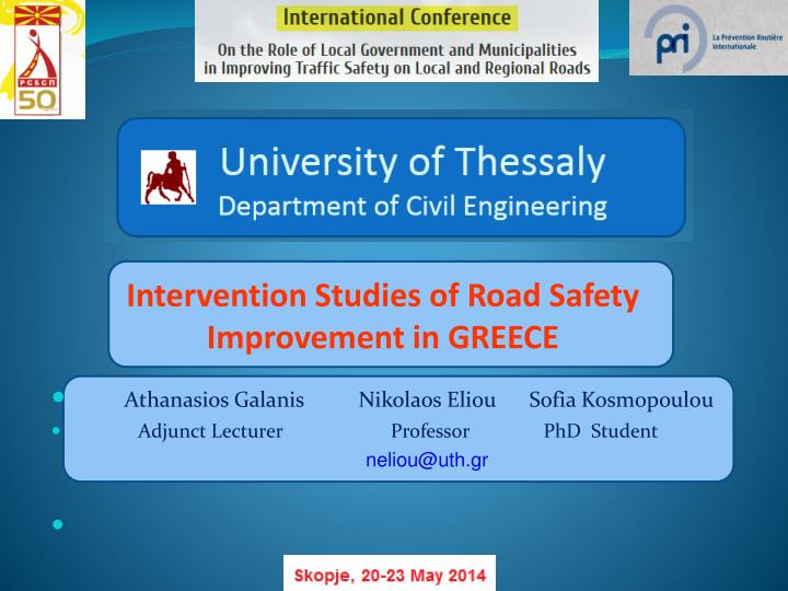 intervention studies of road safety improvement in greece n.