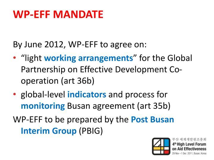 Wp eff mandate