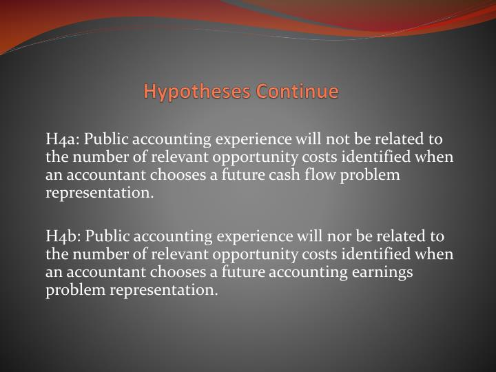 Hypotheses Continue