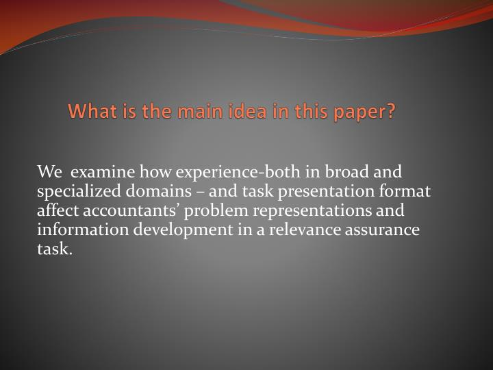 What is the main idea in this paper?