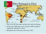 why portugal is first