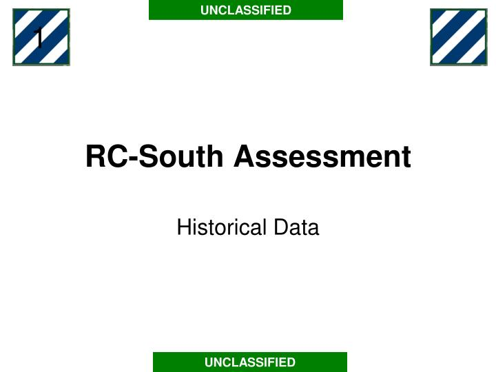 Rc south assessment