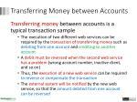 transferring m oney between accounts