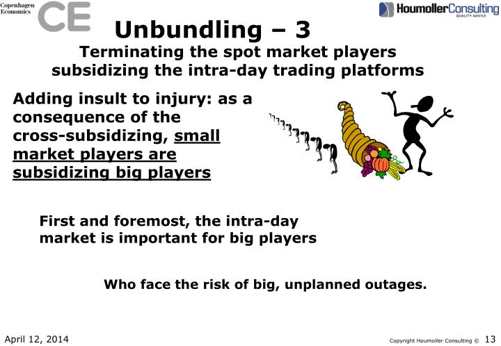Unbundling – 3
