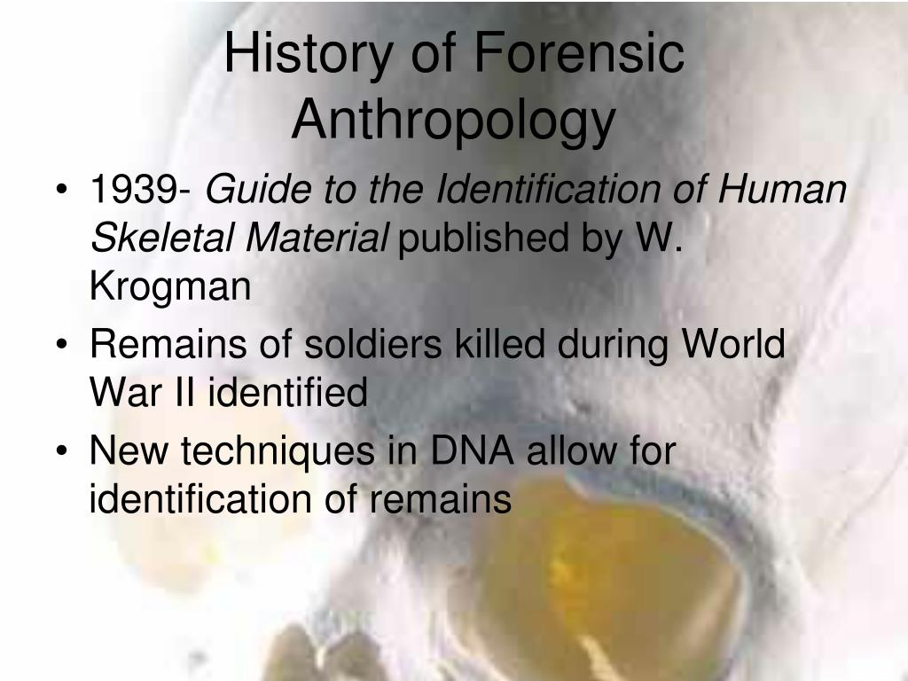 Ppt Forensic Anthropology Powerpoint Presentation Free Download Id 2063126