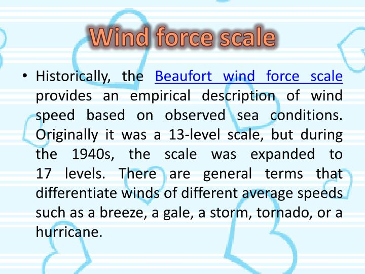 Wind force scale