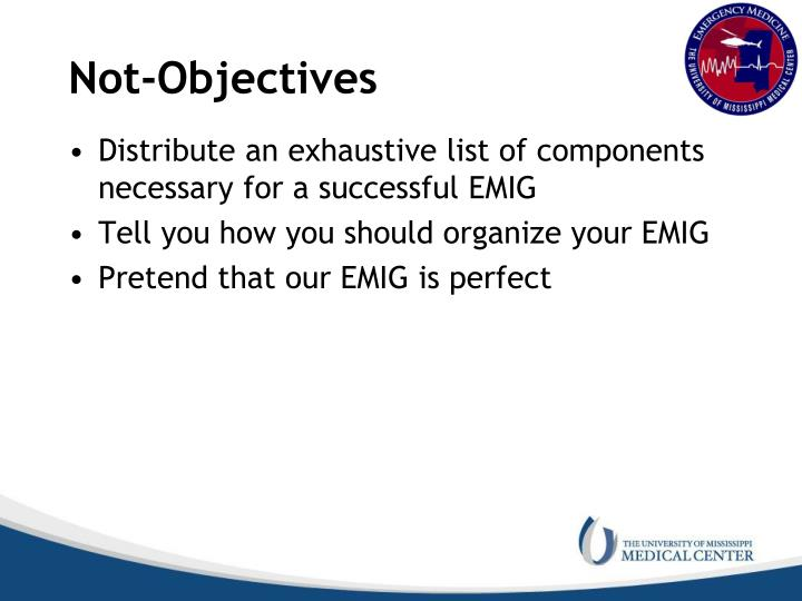 Not-Objectives