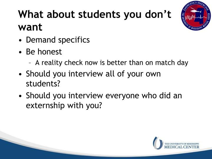 What about students you don't want