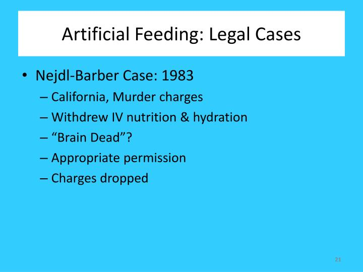 Artificial Feeding: Legal Cases