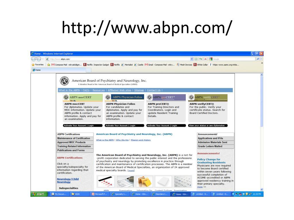 Abpn physician folios login