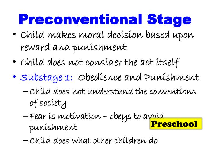 Preconventional stage