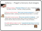 infancy piaget s sensory sub stages