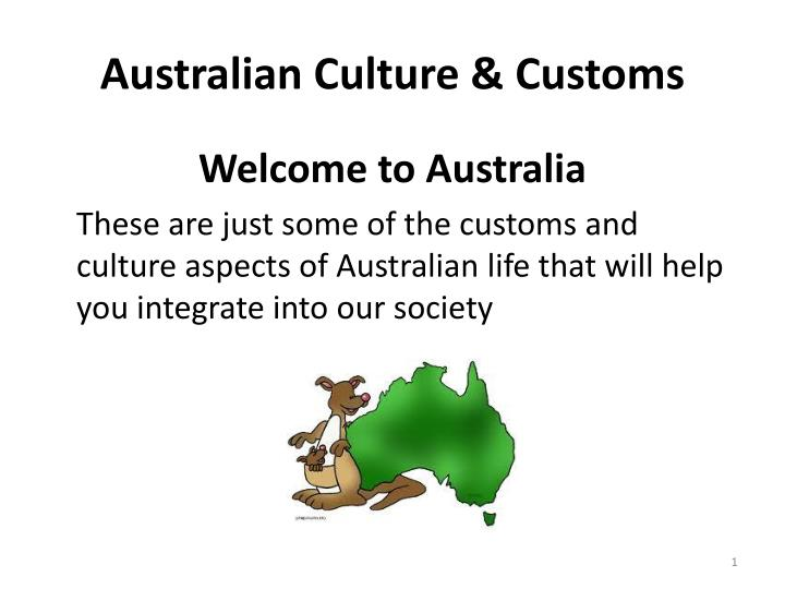 australian culture customs