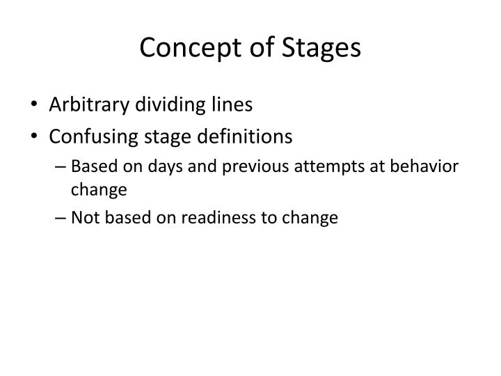 Concept of Stages