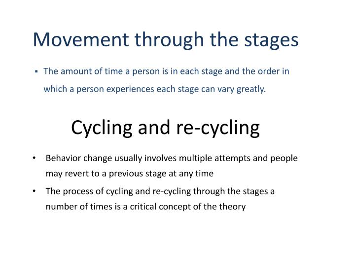 Movement through the stages