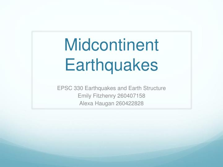 midcontinent earthquakes n.