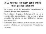 10 heures le besoin est identifi mais pas les solutions3
