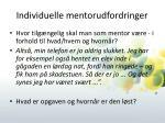 individuelle mentorudfordringer