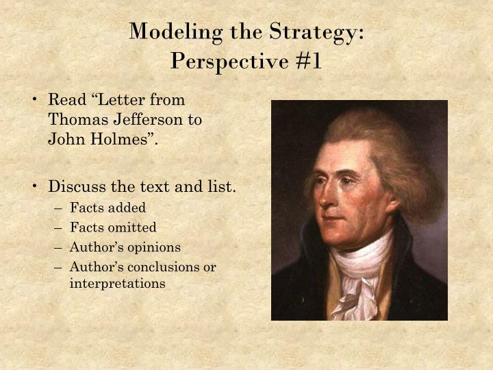 """Read """"Letter from Thomas Jefferson to John Holmes""""."""