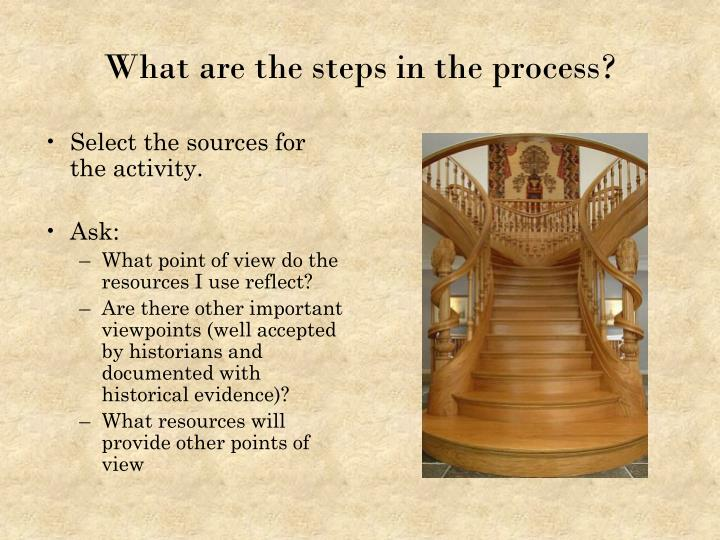Select the sources for the activity.
