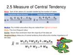 2 5 measure of central tendency