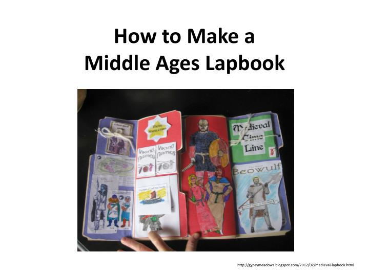 how to make a middle ages lapbook n.