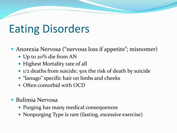 discussion the eating disorder anorexia nervosa and its prevalence today Screening for eating the us surgeon general estimated the prevalence of anorexia nervosa to be dsm iv criteria for eating disorder not otherwise specified.