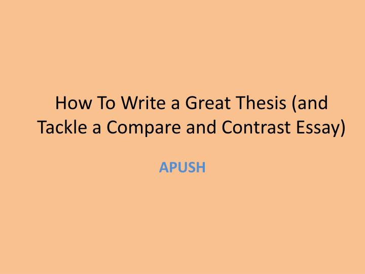 powerpoint on writing a compare/contrast essay
