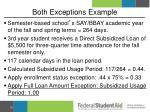 both exceptions example