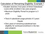 calculation of remaining eligibility example 1