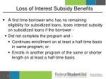 loss of interest subsidy benefits1