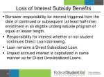 loss of interest subsidy benefits2