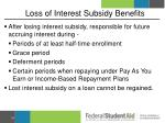loss of interest subsidy benefits3