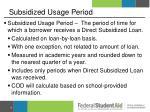 subsidized usage period1