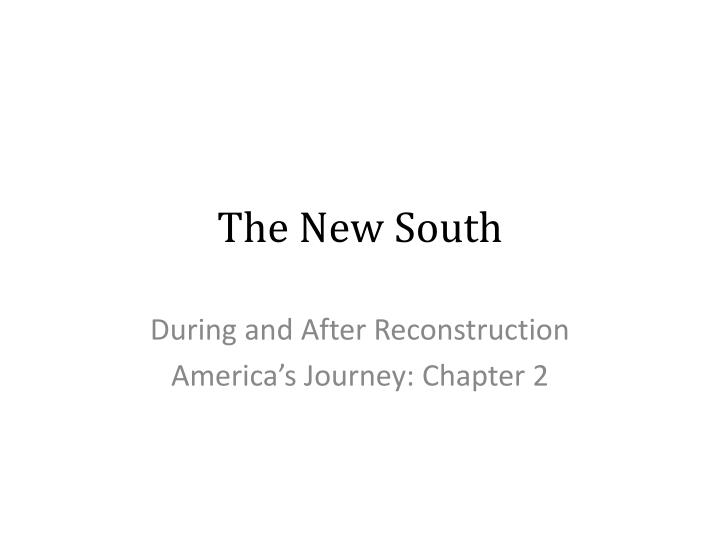 the new south n.