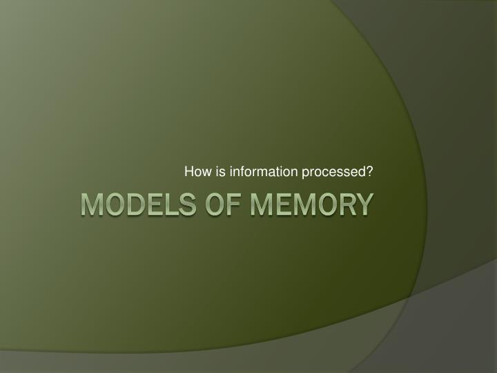 how is information processed n.