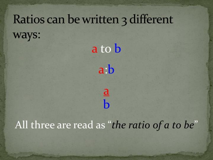 Ppt Lesson 1 Ratios Amp Equivalent Ratios Powerpoint