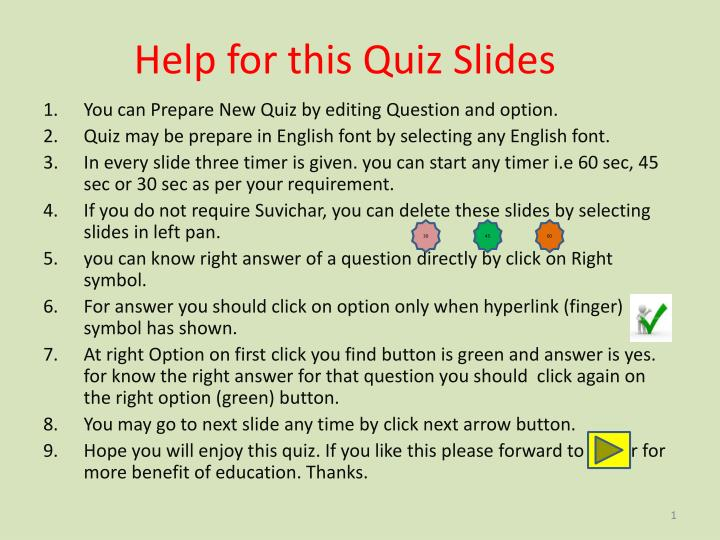 help for this quiz slides n.