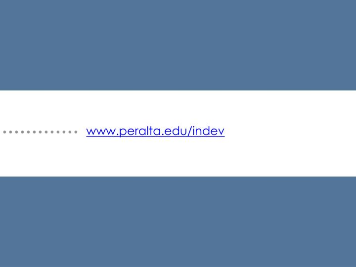 www.peralta.edu/indev