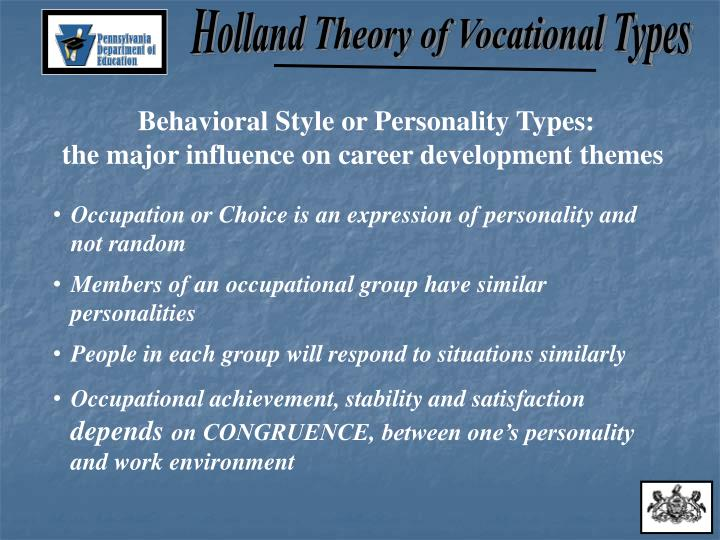 holland theory of vocational development