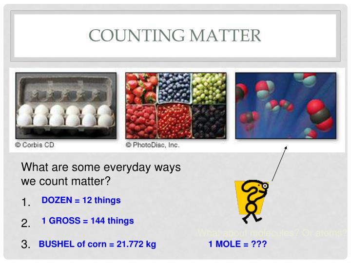 Counting Matter