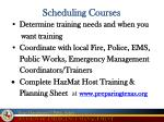 scheduling courses