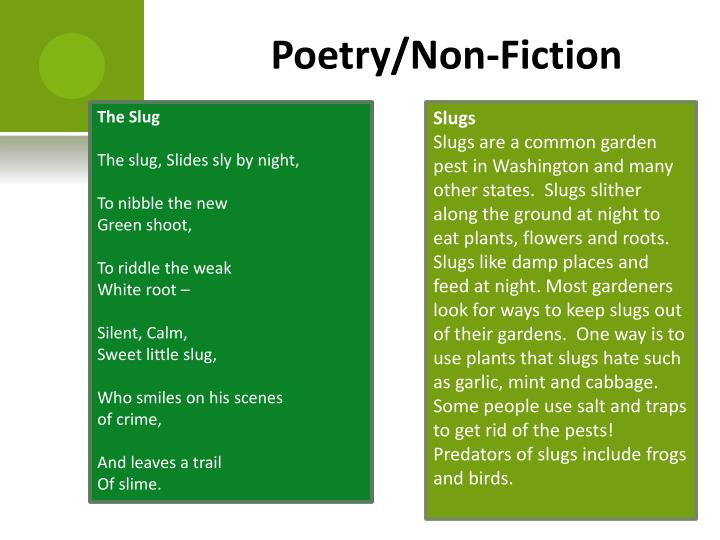 Poetry/Non-Fiction