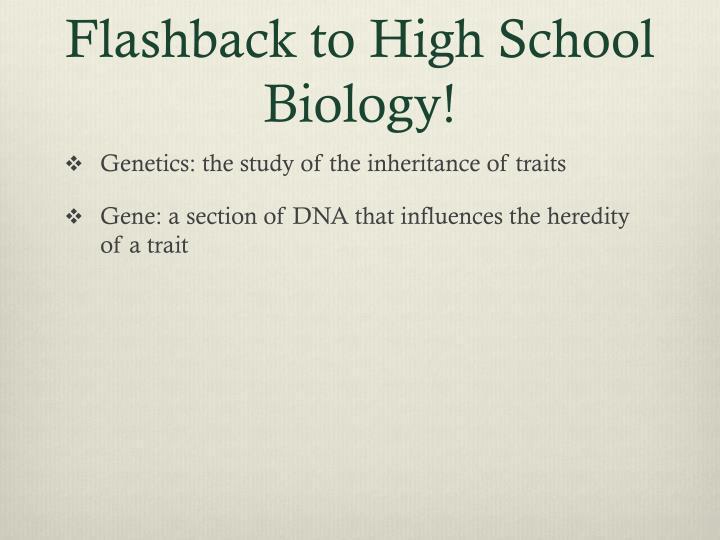 Flashback to high school biology