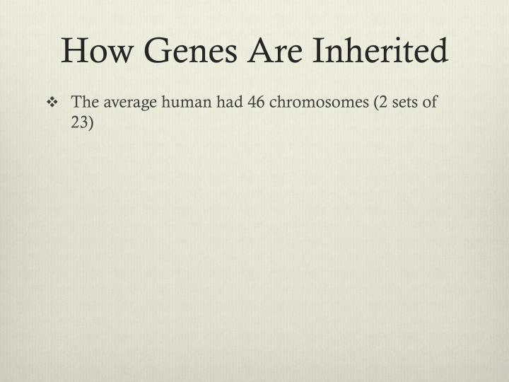 How Genes Are Inherited