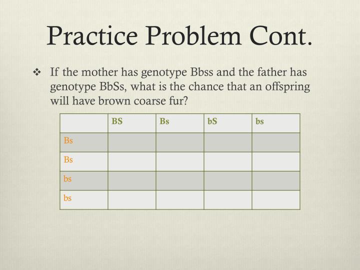 Practice Problem Cont.