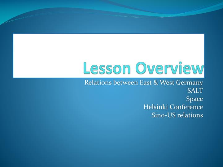 relations between east and west germany in 1969 essay A collection of cold war essay questions written by alpha history authors  how  did ostpolitik change the relationship between east and west germany.