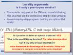 locality arguments is it really a peer to peer solution