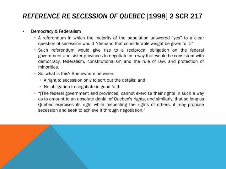 reference secession quebec Definitions of reference re secession of quebec, synonyms, antonyms, derivatives of reference re secession of quebec, analogical dictionary of reference re secession of quebec (english.