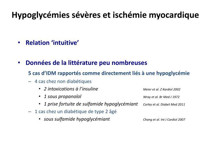 Hypoglycémies sévères et ischémie myocardique